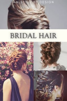 Bridal hair and braided updos for long and short hair by AM Style by Design
