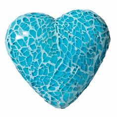 Large mosaic heart in turquoise