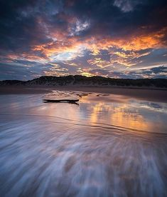 Balmedie Beach as the day ends, Scotland