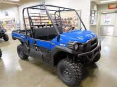 "New 2017 Kawasaki Mule PRO-FX EPS ATVs For Sale in West Virginia. <p style=""margin-bottom: 1em;"">The Mule PRO-FX™ EPS Side x Side has Electric Power Steering that self adjusts to deliver the necessary steering assistance based on speed, while also damping kickback to the steering wheel.</p><ul><li>Massive cargo bed can fit a standard size 40 x 48 pallet with the tailgate closed and up to 1,000 lbs. of cargo capacity</li><li>Powerful 812 cc three-cylinder engine with massive torque…"