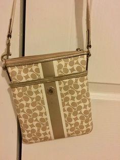 5cd356a1bb Coach Small/Medium Striped Crossbody Bag in Gold #fashion #clothing #shoes #