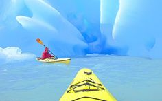 Kayaking in and around glaciers in Lago Grey Grey Glacier Torres del Paine National Park Patagonia, Chili. Yep, this is on my bucket list.