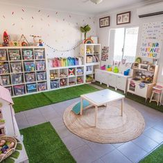 Office playroom - Organization and beautiful materials promotes deep, meaningful play Toddler Playroom, Office Playroom, Playroom Design, Playroom Decor, Playroom Ideas, Ikea Kids Playroom, Unfinished Basement Playroom, Playroom Paint Colors, Playroom Layout