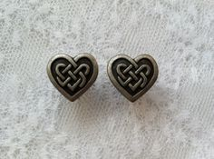 Celtic Heart Knot Vintage Style Plugs Gauges by PorcupineSpines, $18.00