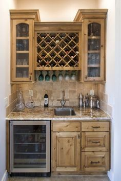 wet bar size looks about right. Would definitely want wine storage was well as glass storage - House Decorators Collection Wet Bar Basement, Basement Bar Designs, Home Bar Designs, Basement Ideas, Basement Finishing, Basement Closet, Petits Bars, Mini Bar, Closet Bar