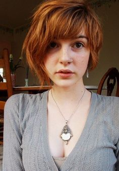 Asymmetric Bob 2014 - Textured Copper Short Bob Hairstyle for Women