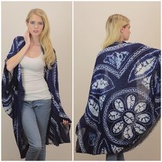 """""""Dust"""" Cocoon Kimono Cardigan Scarf Cocoon kimono tie dye cardigan that can be doubled as a scarf for cooler weather. Brand new. One size fits most. Bare Anthology Sweaters"""