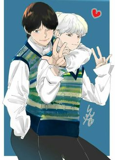 Namjin, Fanart Bts, Taehyung, Pokemon, Bts Drawings, Bts Chibi, Bts Fans, Illustrators, Anime Art