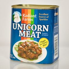Canned Unicorn Meat from Firebox.com… an excellent source of sparkles