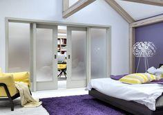 Skleněné dveře Sapeli dýha jasan bílý Decor, Furniture, Home, Mirror, Home Decor