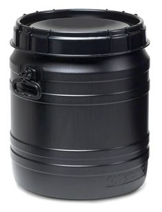 Super-wide necked drum with practical screw lid for a water-tight closure. Smooth inner surface for easy emptying and fast cleaning. UN identification for solid substances and effective protection for your fillers against UV light between 200 and 400 nm. Call Backs, Drums, Surface, Smooth, Closure, Cleaning, Water, Easy, Black
