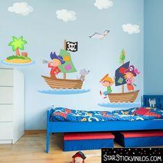Vinilos Piratas ideales para habitaciones temáticas : Os presento dos nuevos modelos de la empresa StarStick, especialista en fabricación de vinilos infantiles. Estos diseños de temática Pirata son perfectos p