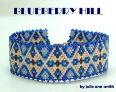 Julie Ann Smith Designs BLUEBERRY HILL Odd Count Peyote Bracelet Pattern