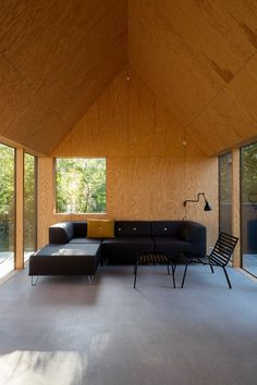 Cottage designed by RUBOW architects Living Etc, Living Spaces, Cottage Design, House Design, Modern Tiny House, Cabins And Cottages, Concept Home, Building A House, Interior Design