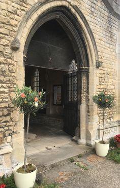 Olive tree church entrance.