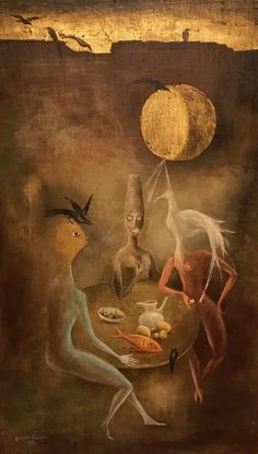 Beautiful surrealist painting by Modern master Leonora Carrington. This image was taken at the 2018 retrospective show for the artist at the Museum of Modern Art in Mexico City. Le Kraken, Women Artist, Art Magique, La Madone, Esoteric Art, Mexican Artists, Arte Horror, Art Moderne, Weird Art