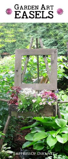 Garden easels can do many cool things for your garden. You can use them as garden art, you can use them to display garden art or plants, and you can use them to display the garden as art.
