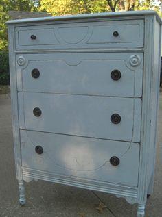 Ice Blue vintage dresser
