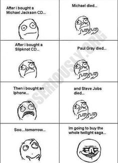 enjoy the best rage comics and Funny Pictures For those that hate Twilight. meme lol funny pictures and rage comics Steve Jobs, Justin Bieber Cd, Amy Winehouse, Twilight Hate, Funny Twilight, Twilight Series, Funny Images, Funny Pictures, Paul Gray
