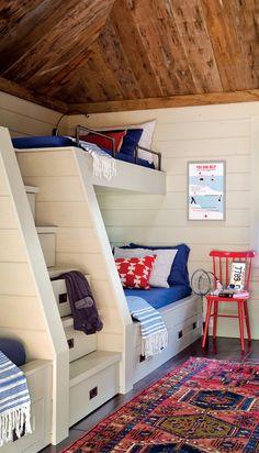 Bunk beds from architect Olsen Lewis. Best of Boston Home Award 2014. #interiordesign #kidsroom #bunkbed
