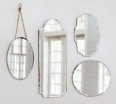 Elegant frameless mirrors from Pottery Barn.