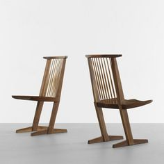 George Nakashima Conoid chairs, pair