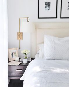 Anyone else feel like they need a nap when the kids nap today? It's that weird in-between week when we're happy to soak up all the family… Feng Shui Bedroom, Bedside Lighting, Over Bed Lighting, Bed Lights, Diy Bedroom Decor, Home Decor, Bedroom Ideas, Wall Decor, Small Rooms