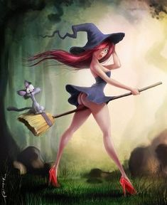 fantasy, art, witch, girl