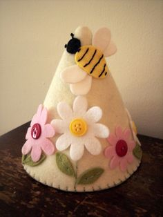 Bumble Bee Felt Party Hat Birthday Crown Dress by pixieandpenelope, $20.00
