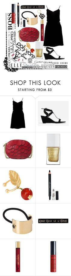 """""""black red & gold!"""" by skylovessave ❤ liked on Polyvore featuring Boohoo, CHARLES & KEITH, Michael Kors, The Hand & Foot Spa, Meriko, e.l.f., Marc Jacobs, DutchCrafters, Elizabeth and James and NYX"""