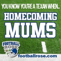 Homecoming Mums...just another tradition you can only find in Texas.