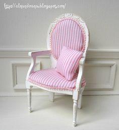 Dollhouse chair. Scale 1: 12 b Mundorosa