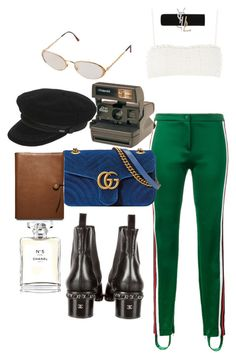 """Untitled #1131"" by veronice-lopez on Polyvore featuring Gucci, Chanel, Topshop, Yves Saint Laurent, Christian Dior, Coach and Polaroid"