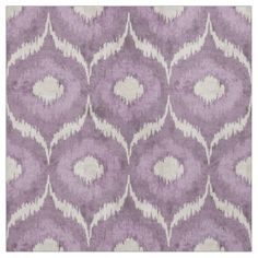 Cool purple and cream ikat tribal pattern fabric. I love this ikat pattern! Although this is a bit too lavender for the space...