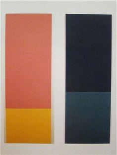 Rot/Gelb (Wvz 82) & Blau/Grün (Wvz 83), by Blinky Palermo - 1968