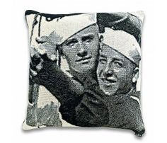 Sailors Tapestry Pillow by DQtrs