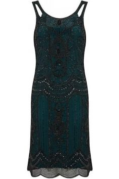 Brooks Flapper Dress #PrettyEccentric #Twenties #1920s #Thirties #1930s #Flapper #Cocktail #Beaded #Vintage #Retro