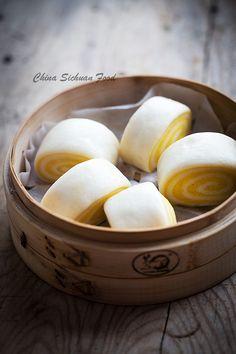 Steamed Pumpkin Buns  chinasichuanfood.com