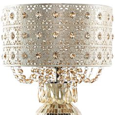 Shabby Chic Lamp Shades, Shabby Chic Chandelier, Tracy Porter, World Decor, Shabby Chic Interiors, Champagne Color, Lamp Bases, Colored Glass, Mosaic