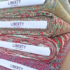 Lovely stack of Classics Revival Liberty fabric bolts. Carline is one of my all time favourites! So happy it has been re-released (for a short time!) ❤️