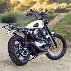 """Maybe with some more suspension, this could change the world - Racing Cafè: Harley Sportster 1200 """"Scrambler"""" by Burly Brand"""