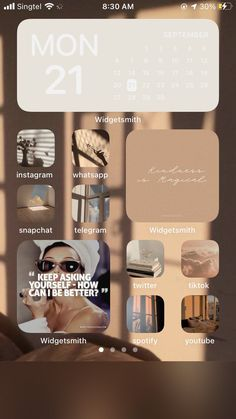 Iphone Home Screen Layout, Iphone App Layout, Design Ios, Iphone Design, Homescreen, Phone Themes, Ios Update, Iphone Wallpaper Tumblr Aesthetic, Iphone Icon