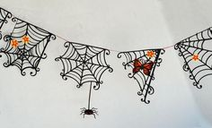 Superstition Spiderweb Pennants--Lettering Delights