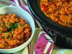 Slow Cooker Jambalaya without shrimp- hubby is allergic to seafood!