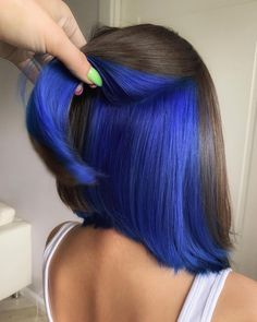 Under Hair Dye, Under Hair Color, Hidden Hair Color, Hair Color Streaks, Hair Dye Colors, Hair Color Blue, Cool Hair Color, Men Hair Color, Bright Hair Colors