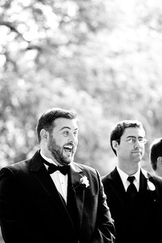 love this groom's reaction to seeing his bride for the first time! | Jake Holt #wedding