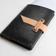Leather Passport Holder by From Marfa With Love on Scoutmob Shoppe-SR Diy Leather Passport Holder, Leather Passport Wallet, Canvas Leather, Leather Bag, Leather Wallets, Leather Projects, Stitching Leather, Leather Journal, Custom Leather