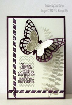 Butterfly basics framelits card, using supplies from Stampin' Up! www.craftingandstamping.com #stampinup