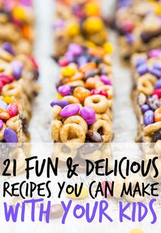 21 Fun And Delicious Recipes You Can Make With Your Kids - Snacks For Children İdeas Baby Food Recipes, Snack Recipes, Easy Recipes, Skillet Recipes, Cereal Recipes, Detox Recipes, Toddler Snacks, Kid Snacks, Yummy Food