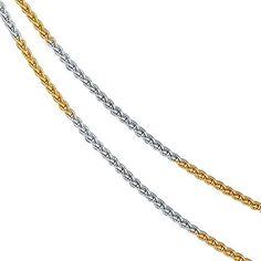 Dreambase Damen-Halskette Gelbgold mit Weißgold kombinier... https://www.amazon.de/dp/B01JNML77K/?m=A37R2BYHN7XPNV